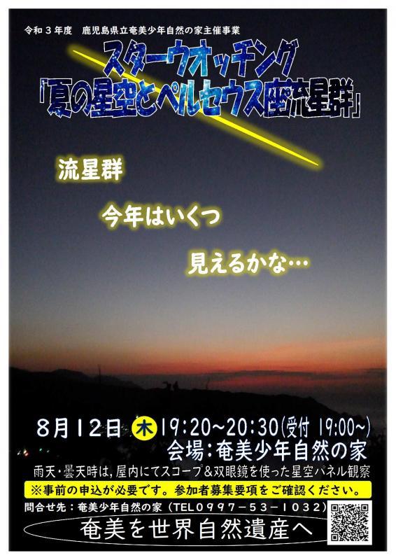 令和3年度スターウオッチング「夏の星空とペルセウス座流星群」 写真